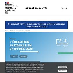 L'éducation nationale en chiffres 2020