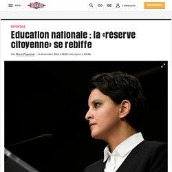 Education nationale : la «réserve citoyenne» se rebiffe