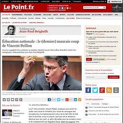 Éducation nationale : le (dernier) mauvais coup de Vincent Peillon