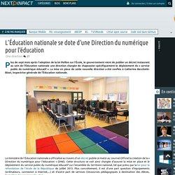 L'Éducation nationale se dote d'une Direction du numérique pour l'éducation
