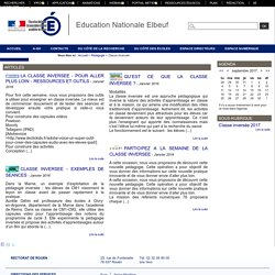 Education Nationale Elbeuf - Classe inversée