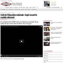 Coût de l'Education nationale : Copé ressort le modèle allemand