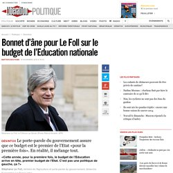 Bonnet d'âne pour Le Foll sur le budget de l'Education nationale