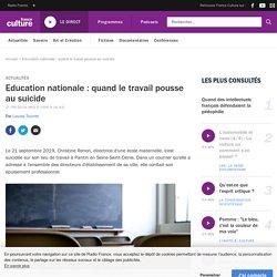 Education nationale : quand le travail pousse au suicide