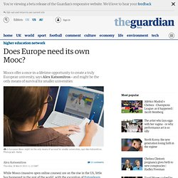 Does Europe need its own Mooc?