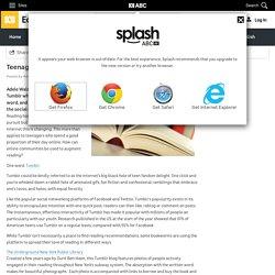 Teenage reading and Tumblr - Adele Walsh - ABC Splash -