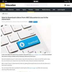How to download videos from ABC Education to use in the classroom - ABC Education - ABC Splash -