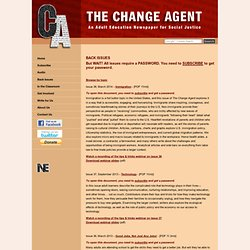 The Change Agent: An Adult Education Newspaper