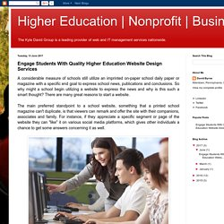 Business: Engage Students With Quality Higher Education Website Design Services