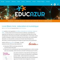 Livre Blanc Inria : éducation et numérique – EducAzur