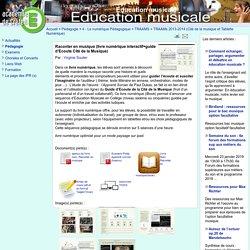 Education musicale - Raconter en musique (livre numérique interactif+guide d'Ecoute Cité de la Musique)