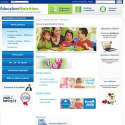 Services de garde éducatifs à l'enfance