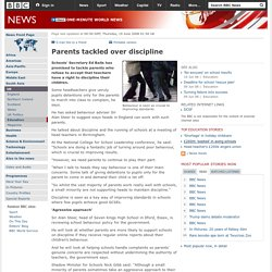 Parents tackled over discipline