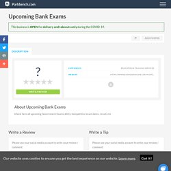 Upcoming Bank Exams, Education & Training Services in Parkbench Community