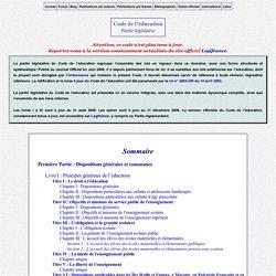 Code de l'éducation - Partie législative