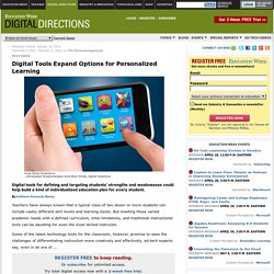 Education Week's Digital Directions: Digital Tools Expand Option