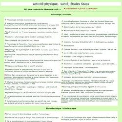 Education Physique : physiologie, anatomie, activités physiques et santé
