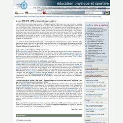 éducation physique et sportive - e-nov EPS N°9 : EPS et accrochage scolaire