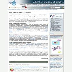 éducation physique et sportive - e-nov EPS N°12 : ce qu'il y a à apprendre