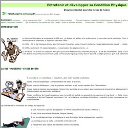 Education Physique: Entretien Physique et santé