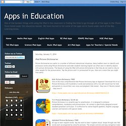 Apps in Education: iPad Picture Dictionaries