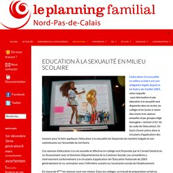 Education à la sexualité en milieu scolaire