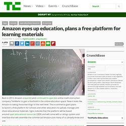 Amazon eyes up education, plans a free platform for learning materials