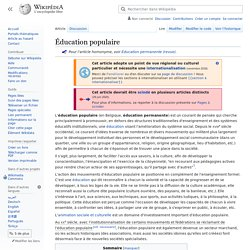 Wiki éduc pop