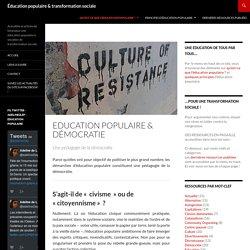Education populaire & démocratie