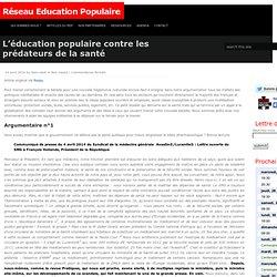 L'éducation populaire contre les prédateurs de la santé