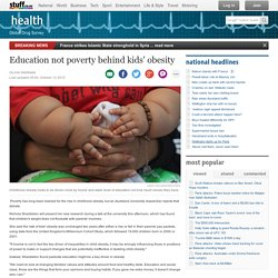 Education not poverty behind kids' obesity
