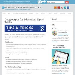 Google Apps for Education: Tips & Tricks