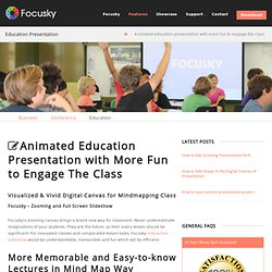 Animated education presentation with more fun to engage the class