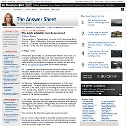 Why public education must be preserved - The Answer Sheet