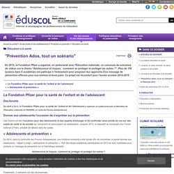 """Éducation à la santé - """"Prévention Ados, tout un scénario"""", le Palmarès 2014"""