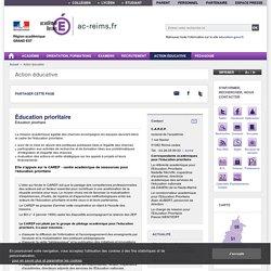 L'éducation prioritaire dans l'académie de Reims
