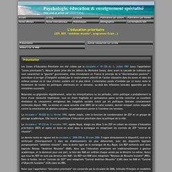 L'éducation prioritaire (ZEP, REP, 'ambition réussite', programme Éclair...)