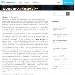 Education our first priority