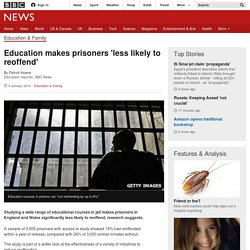 Education makes prisoners 'less likely to reoffend'