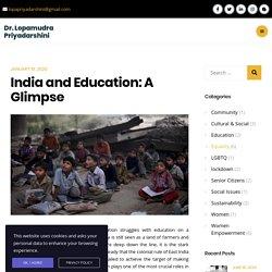 India and Education: A Glimpse - Dr. Lopamudra Priyadarshini