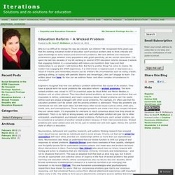 Education Reform – A Wicked Problem « Iterations