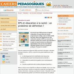EPS et éducation à la santé : un problème de définition