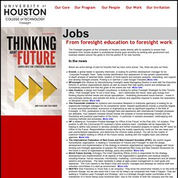 Houston Futures Education - Preparing Foresight Professionals in Houston