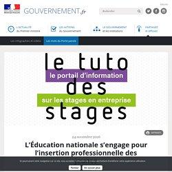 L'Éducation nationale s'engage pour l'insertion professionnelle des jeunes