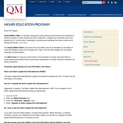 Higher Education Program