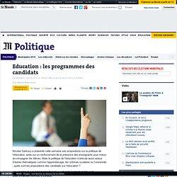 Education : programmes des candidats