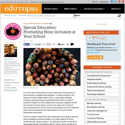 Special Education: Promoting More Inclusion at Your School