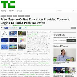 Free Massive Online Education Provider, Coursera, Begins To Find A Path To Profits