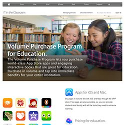 Education - Volume Purchase Program