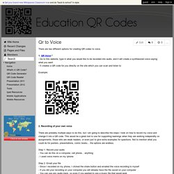 Education QR Codes - Qr to Voice